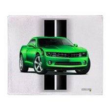New Camaro Green Throw Blanket