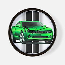 New Camaro Green Wall Clock