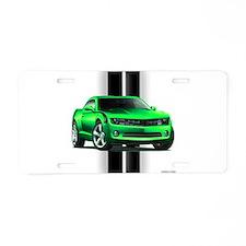 New Camaro Green Aluminum License Plate