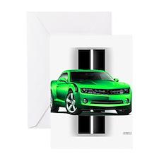 New Camaro Green Greeting Card