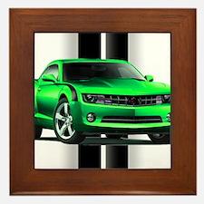 New Camaro Green Framed Tile