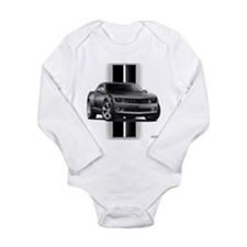 New Camaro Gray Long Sleeve Infant Bodysuit