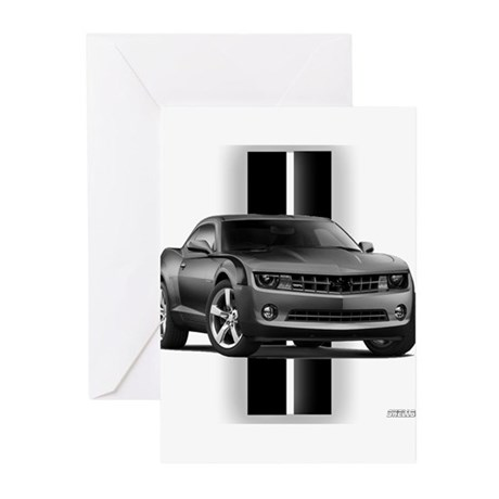 New Camaro Gray Greeting Cards (Pk of 10)