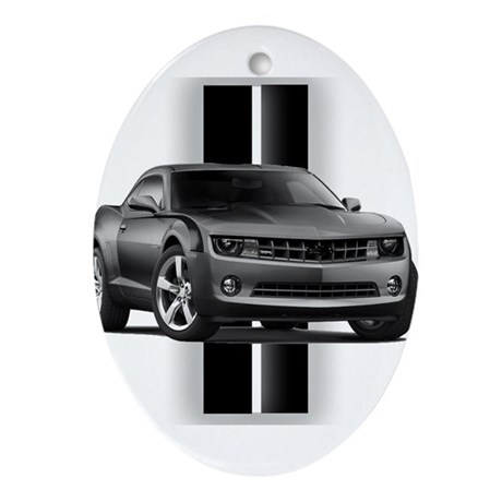 New Camaro Gray Ornament (Oval)