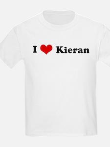I Love Kieran Kids T-Shirt