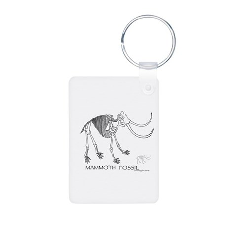 Mammoth Fossil Aluminum Photo Keychain