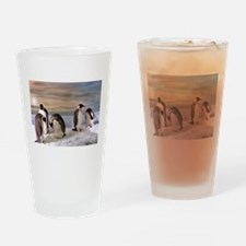 Penguins from Antarctica Drinking Glass