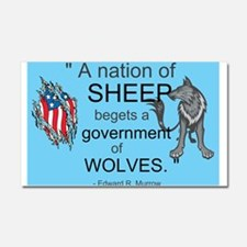 Sheep... wolves II Car Magnet 20 x 12