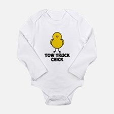 Tow Truck Chick Long Sleeve Infant Bodysuit