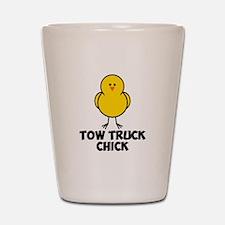 Tow Truck Chick Shot Glass