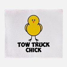 Tow Truck Chick Throw Blanket