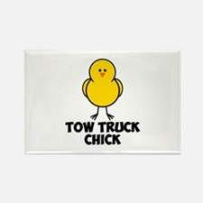 Tow Truck Chick Rectangle Magnet