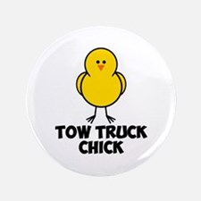 """Tow Truck Chick 3.5"""" Button"""
