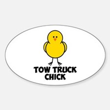 Tow Truck Chick Sticker (Oval)