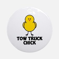 Tow Truck Chick Ornament (Round)