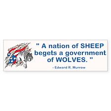 Sheep... Wolves III Bumper Bumper Sticker