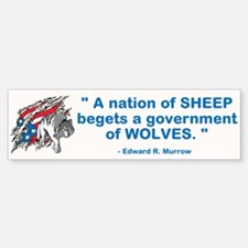 Sheep... Wolves III Bumper Bumper Sticker
