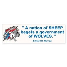Sheep... Wolves III Bumper Sticker