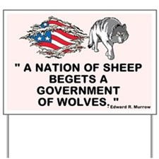 Sheep... Wolves III Yard Sign
