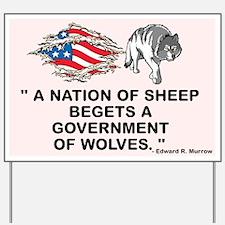Sheep... Wolves III Yard Sign
