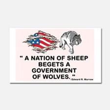 Sheep... Wolves III Car Magnet 20 x 12