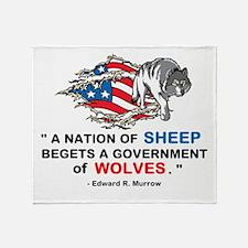 Sheep... Wolves III Throw Blanket