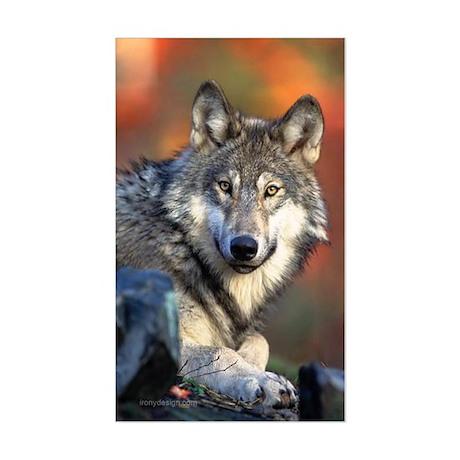 Wolf Photograph Sticker (Rectangle)