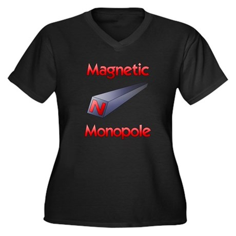Monopole Women's Plus Size V-Neck Dark T-Shirt