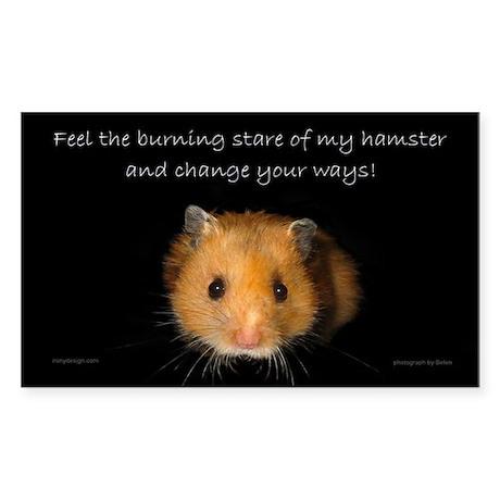 The Hamster Sticker (Rectangular)