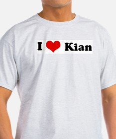 I Love Kian Ash Grey T-Shirt