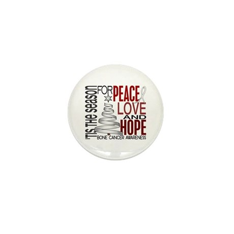 Christmas 1 Bone Cancer Mini Button (100 pack)