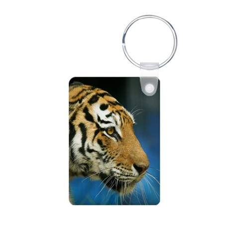 Tiger Sideways Photo Aluminum Photo Keychain