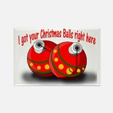 Christmas Balls Rectangle Magnet