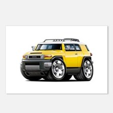 FJ Cruiser Yellow Car Postcards (Package of 8)