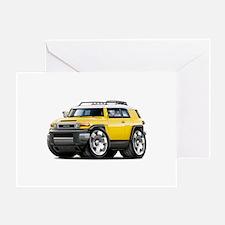 FJ Cruiser Yellow Car Greeting Card