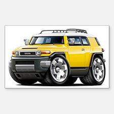 FJ Cruiser Yellow Car Sticker (Rectangle)