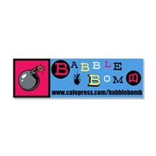Babble Bomb Car Magnet 10 x 3