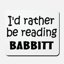 Reading Babbitt Mousepad