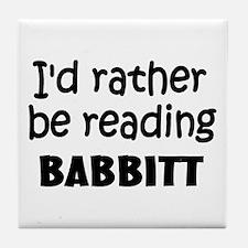 Reading Babbitt Tile Coaster