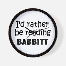 Reading Babbitt Wall Clock