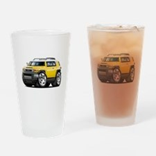 FJ Cruiser Yellow Car Drinking Glass