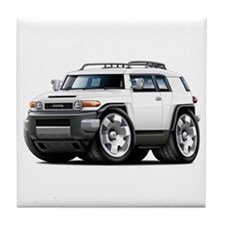 FJ Cruiser White Car Tile Coaster