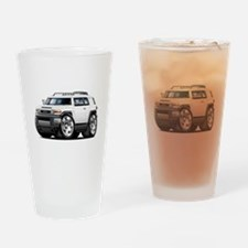 FJ Cruiser White Car Drinking Glass
