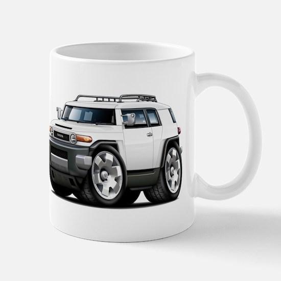 FJ Cruiser White Car Mug