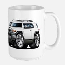 FJ Cruiser White Car Large Mug