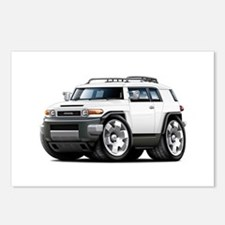 FJ Cruiser White Car Postcards (Package of 8)