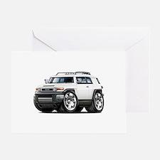 FJ Cruiser White Car Greeting Card