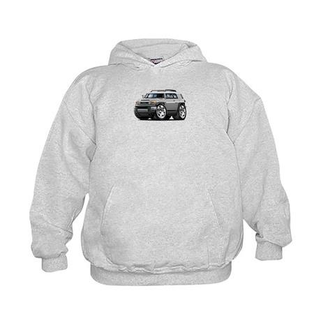 FJ Cruiser Silver Car Kids Hoodie