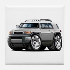 FJ Cruiser Silver Car Tile Coaster