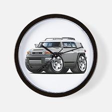 FJ Cruiser Silver Car Wall Clock